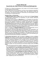 Geschichte der Alten Kirche Dortmund-Wellinghofen