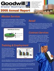 2008 Annual Report - Goodwill of Greater Washington