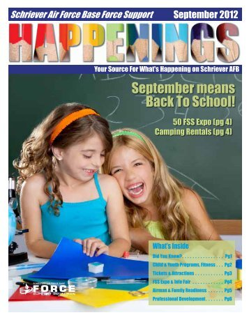 September means Back To School! - Schriever Air Force Base