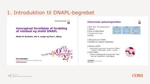 Temadag om fri fase (DNAPL) - ATV - Jord og Grundvand