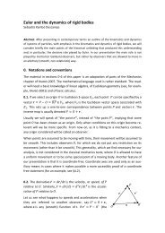 Euler and the dynamics of rigid bodies - UPC
