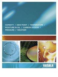 humidity / dew point / tempeRAtuRe / moistuRe in oil ... - Vaisala