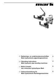 Bedienings- en onderhoudsvoorschriften Mark hydraulische ...