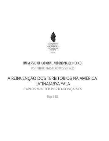 A Reinvenção dos Territórios - Universidad Nacional Autónoma de ...