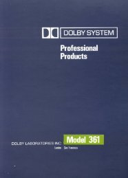 Dolby 361 at AllegroSound.com