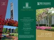 25 things alumni can do2.indd - Methodist University