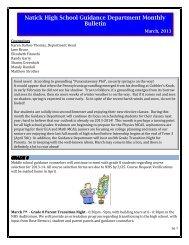 March - Natick Public Schools