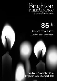 Download Concert Programme - Brighton Philharmonic Orchestra