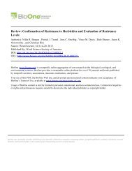 Review: Confirmation of Resistance to Herbicides and Evaluation of ...
