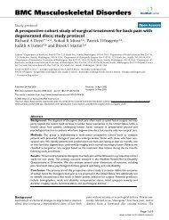 A prospective cohort study of surgical treatment for back pain