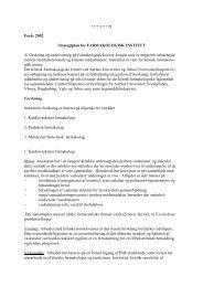 1?? ? ??3 Forår 2002 Strategiplan for FARMAKOLOGISK INSTITUT ...