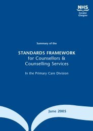 Standards Framework for Counsellors & Counselling Services