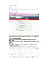 'Author Login'. AUTHO - IWA Publishing Online Journals