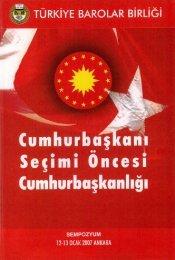 Cumhurbaşkanı Seçimi Öncesi Cumhurbaşkanlığı - Türkiye Barolar ...