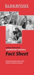 01-3029 Lab School Fact Sheet - University High School - Illinois ...
