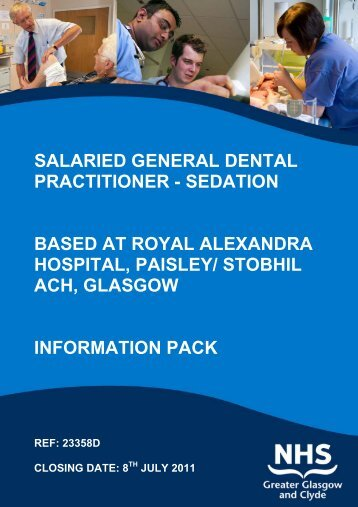 salaried general dental practitioner - NHS Greater Glasgow and Clyde