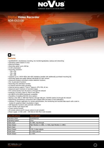 Digital Video Recorder NDR-EA3108