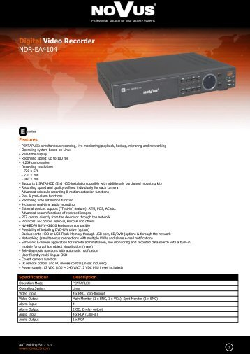 Digital Video Recorder NDR-EA4104