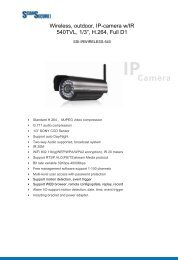"""Wireless, outdoor, IP-camera w/IR 540TVL, 1/3"""", H ... - Scan Secure AS"""