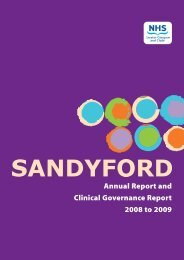 Annual Report and Clinical Governance Report 2008 to 2009