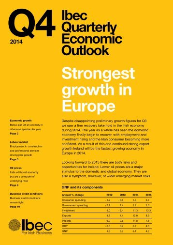 Ibec+Q4+2014+Outlook