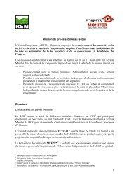 Mission de pré-faisabilité au Gabon L'Union ... - Forests Monitor
