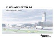 Präsentation zum Quartalsergebnis 1-3/2013 - Flughafen Wien