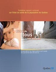 Troisième rapport national sur l'état de santé de la population du ...