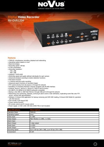 Digital Video Recorder NV-DVR1204