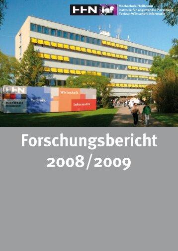 Forschungsbericht 2008/2009 (pdf, 14MB) - Hochschule Heilbronn