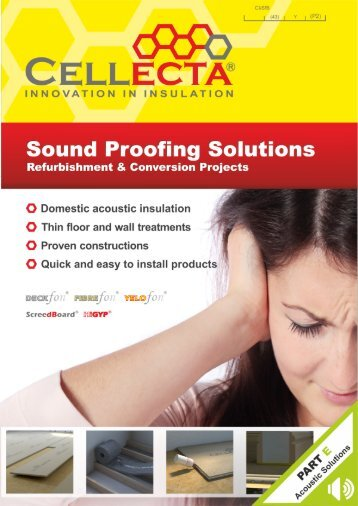 Cellecta Sound Proofing Solutions Refurbishment Brochure