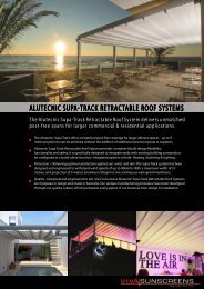 ALUTECNIC SUPA-TRACk RETRACTABLE ... - Viva Sunscreens