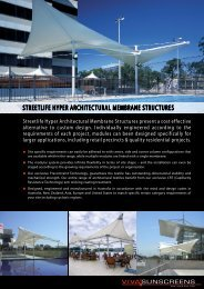 streetlife hyper architectural membrane structures - Viva Sunscreens
