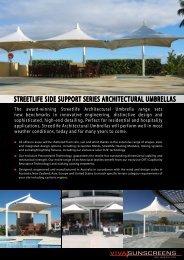 STREETLifE SiDE SUPPORT SERiES ... - Viva Sunscreens