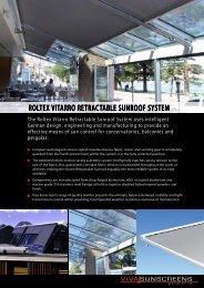 ROLTEX ViTaRRO RETRacTabLE SunROOf ... - Viva Sunscreens