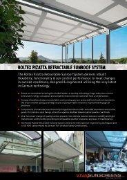 ROLTEX PizaTTa RETRacTabLE SunROOf ... - Viva Sunscreens