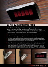 Ray-Tech Gas RadianT heaTinG sysTem - Viva Sunscreens
