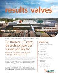 Le nouveau Centre de technologie des vannes de Metso