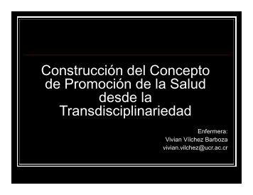 Construcción del Concepto de Promoción de la Salud desde la ...