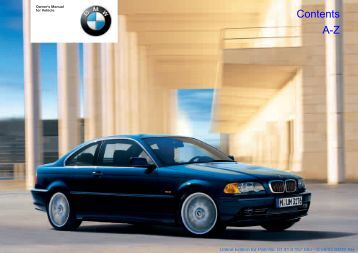 Owner's Manual for Vehicle - BMWforum.GR