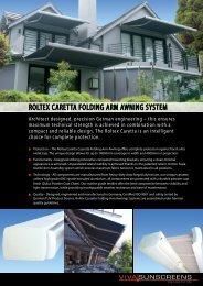 ROLTEX CARETTA FOLDING ARM AWNING ... - Viva Sunscreens