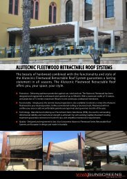 alutecnic fleetwood retractable roof systems - Viva Sunscreens