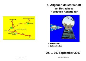 Ausschreibung - SSG Rottachsee