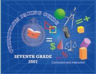 SEVENTH GRADE 2007 - Miami-Dade County Public Schools