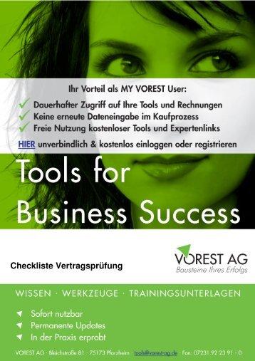 Checkliste Vertragsprüfung - Vorest AG