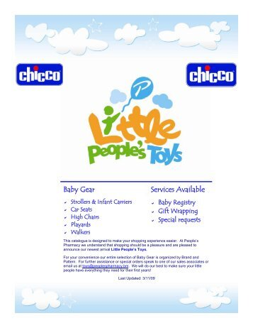 Chicco Catalogue MAR09 - Little People's Toys