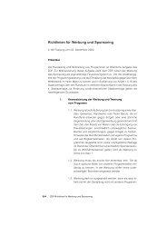 ZDF Richtlinien für Werbung und Sponsoring - Forum Rauchfrei
