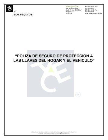 CERTIFICADO INDIVIDUAL DE SEGUROS - ACE Group