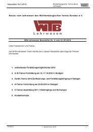 Newsletter Nr.3 2010 Neues vom Lehrwesen des ... - WTB