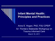 Infant Mental Health: Principles and Practices